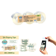 Earth Hugger Bandit Packaging Tape 2 Inches X 55 Yards Refill Rolls Pack Of 3