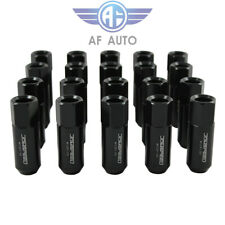 20PC JDMSPEED BLACK 60MM M12X1.5 EXTENDED FORGED ALUMINUM TUNER RACING LUG NUTS