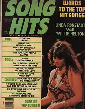 Song Hits Magazine February 1976 Willie Nelson , Linda Ronstadt EX 112015DBE