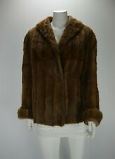 F11031 Orange Mink Real Fur Size XL Women Swing Coat Jacket Outerwear
