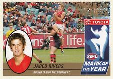 Select 2005 Tradition JARED RIVERS Melbourne Demons Mark of the Year card