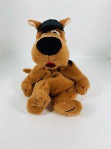 VTG Scooby Doo Beanbag Plush With Pizza Baseball Hat 1998 Warner Bros Studio Str