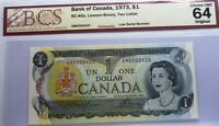 LOW SERIAL # 420 ,BANK OF CANADA   1973 , CANADA - UNCIRCULATED