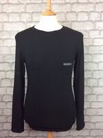EMPORIO ARMANI UNDERWEAR MENS UK M BLACK LONG SLEEVE T-SHIRT TEE TOP