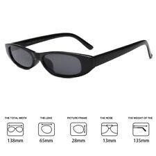 Ladies Small Frame Cat Eyes Rectangle Sunglasses Black