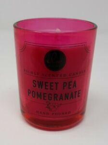 DW HOME Sweet Pea Pomegranate Candle Jar Single Wick 4 Oz  NEW