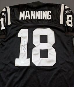 Peyton Manning Indianapolis Colts Autographed Signed Black Jersey COA