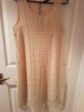 Zara Basic Size 10 Cream Dress Worn Once freshly laundered.