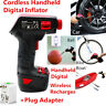Rechargeable Cordless Car Tire Inflatable Pump Wireless Air Pump Inflator+Plug