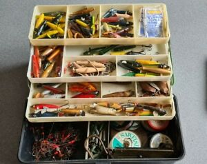 Vintage  Fishing Tackle Box well the box itself may not be but the contents is!