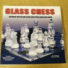 Glass Board Traditional Chess Set Game Unique Gift 32 Pieces Fun Party