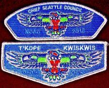 T'Kope Kwiskwis 502 WA OA 100TH 2015 NOAC CHIEF SEATTLE SEAHAWKS NFL FLAP & CSP