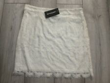 PRETTY IVORY LACE MINI SKIRT SIZE XL NEW WITH TAGS FROM PRETTY LITTLE THING