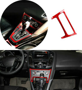 Fit For Ford Focus ST RS 2015-2018 Console AC Button Control Frame Trim ABS Red