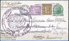 Graf Zepplin First Round The World Flight Aug 6 1929 NYC to Koln Germany