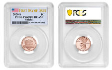 2020 S SHIELD LINCOLN CENT 1C PCGS PR69RD DCAM FIRST DAY OF ISSUE 8