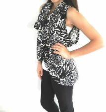 Animal Print Hand-wash Only Regular Size Vests for Women
