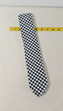 Van Heusen 100% Cotton Blue Plaid Mens Tie w/ Tags ~ Ships FREE