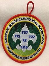 """Boy Scouts -  2016 El Camino Real District - LDS 3 1/2"""" round Camporee patch"""