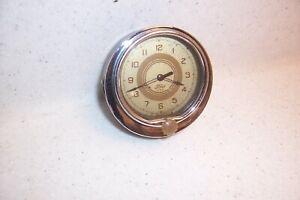 1937 37 FORD ACCESSORY WIND UP DASH CLOCK ORIG FOMOCO RUNS/WORKS GOOD