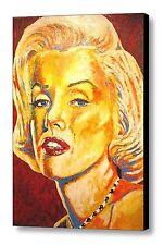 """Marilyn Monroe"" ~ Hand Embellished Canvas By Patrick J. Killian"