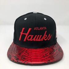 Atlanta Hawks Genuine Python Mitchell & Ness Brand Strapback Hat A7