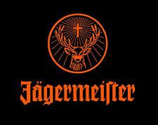New Jagermeister Black Orange Flag Bar Liquor 3' x 5' banner sign USA shipper