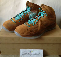 NIKE LEBRON 10 EXT HAZELNUT BROWN SUEDE Sz US UK8 9 10 11 12 13 CORK DENIM 2013