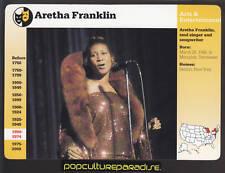 ARETHA FRANKLIN Singer GROLIER STORY OF AMERICA CARD
