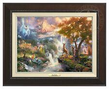 Thomas Kinkade - Disney's Bambi Canvas Classic (Espresso Frame)