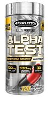 MuscleTech Pro Series ALPHA Test MAX-STRENGTH TESTOSTERONE Booster 120 Capsules