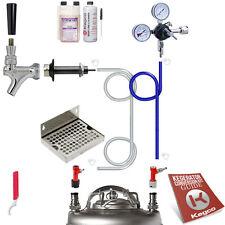 Kegco Kegerator Home Brew Keg Tap Door Mount Draft Beer Conversion Kit Pin Lock