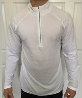 Lululemon Size M Metal Vent Tech 1/2 Zip 2.0 White WHWH Reflective Pullover Half