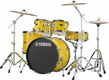 Yamaha Rydeen Drum Kit, Mellow Yellow w/ Hardware And Paiste Cymbals RDP2F5-YL