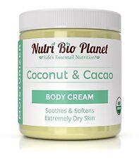 Coconut Oil & Cacao Butter Body Cream Moisturizer (8 Ounce)