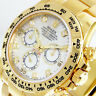 ROLEX DAYTONA 116508 YELLOW GOLD WHITE MOP DIAMOND MOTHER OF PEARL 116508 OYSTER