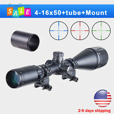 4-16x50AO RGB Mil Dot Scope Kit w/ Sunshade Tube Flip-Up Caps & Picatinny Rings*