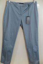 "NWT Piazza Sempione Slate Blue Cotton Blend ""Cristina"" Pants Size 12 MSRP $500"