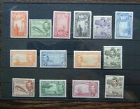 Cayman Islands 1938 - 1948 set to 10s MM