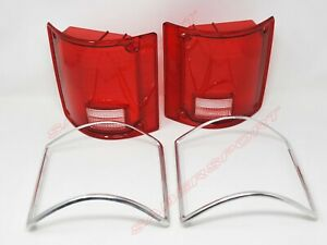 Pair OE Style Taillights Lens for 1973-1991 GMC Chevy Pickup Blazer Suburban