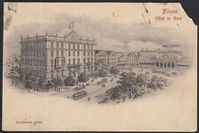 AX0714 Milano - Hotel du Nord - Cartolina postale - Postcard