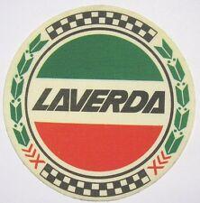 VECCHIO ADESIVO MOTO in materiale telato / Old Sticker Vintage LAVERDA (cm 8,5)