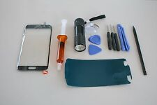 Samsung Galaxy S6 Edge Blue Front Glass Lens screen Replacement UV Glue Tool Kit
