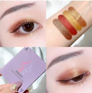 Eye Shadow Palette Kit, Bronze Gold Brown Neu Shades Make Up Set & Free Gift Bag