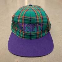 Vintage 90s Hershey's Chocolate Plaid Snapback Hat Candy Park KC Cap