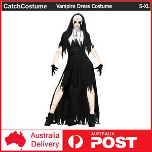 Women Zombie Sister Nun Costume Vampire Cosplay Suit Halloween Party Fancy Dress