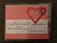 Anniversary Card Hearts I Love You Ribbon Handmade