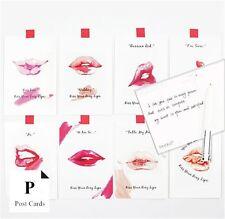 Lot of 30 Pcs Slogan Sexy Lip print postcard set Greeting Card Message Card