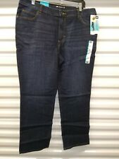 Lee Dark Wash Straight Leg Womens Relaxed Fit Jeans Size 16S, 34 x 29 New w/tags