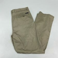 Dockers D2 Chino Pants Men's 36x32 Tan Flat Front Slash Pocket Cotton Casual